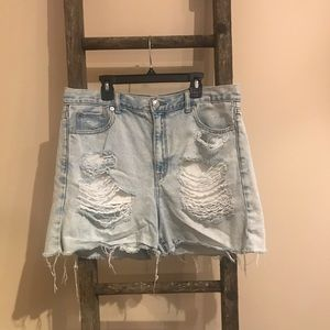 American Eagle Distressed Cut-Off Jean Shorts